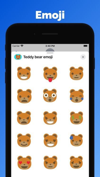 Teddy bear emoji & stickers
