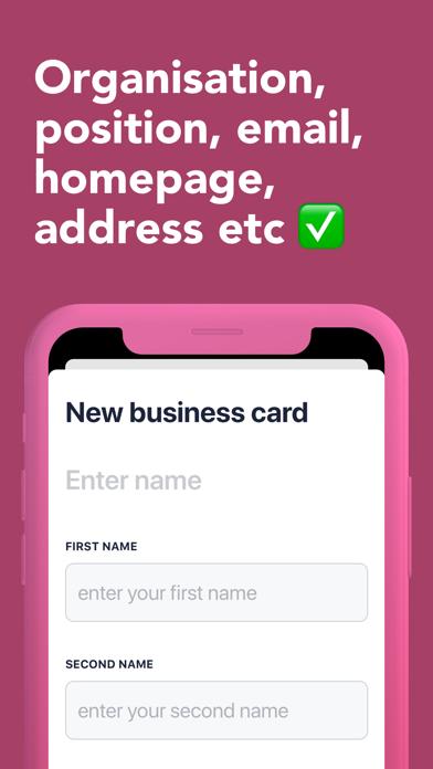 QRID Business card in a widget屏幕截图3