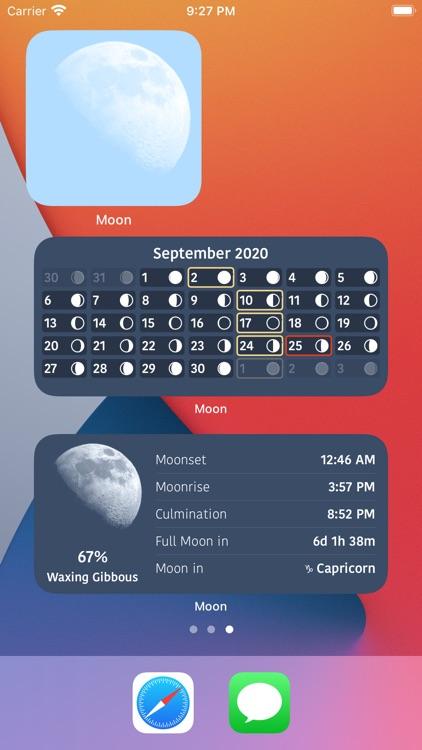 Moon Phases and Lunar Calendar screenshot-3