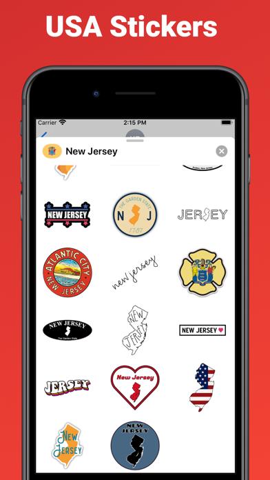 New Jersey state USA stickers screenshot 2