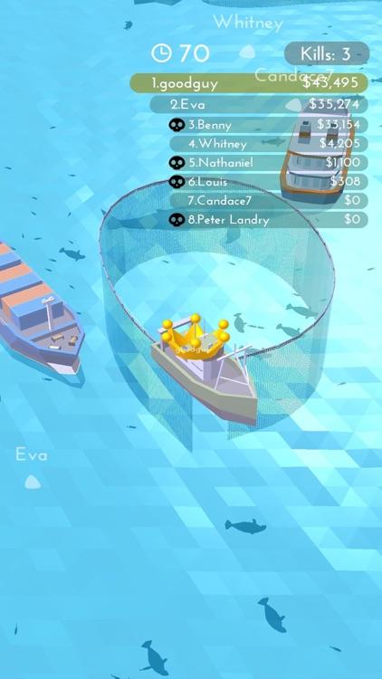 Fishingnet 3D: Battle io game screenshot-3