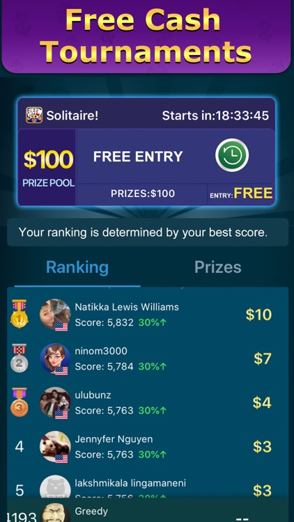 Solitaire Clash: Play for Cash screenshot-3