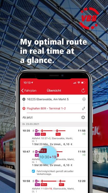 VBB Bus & Bahn: Route planner