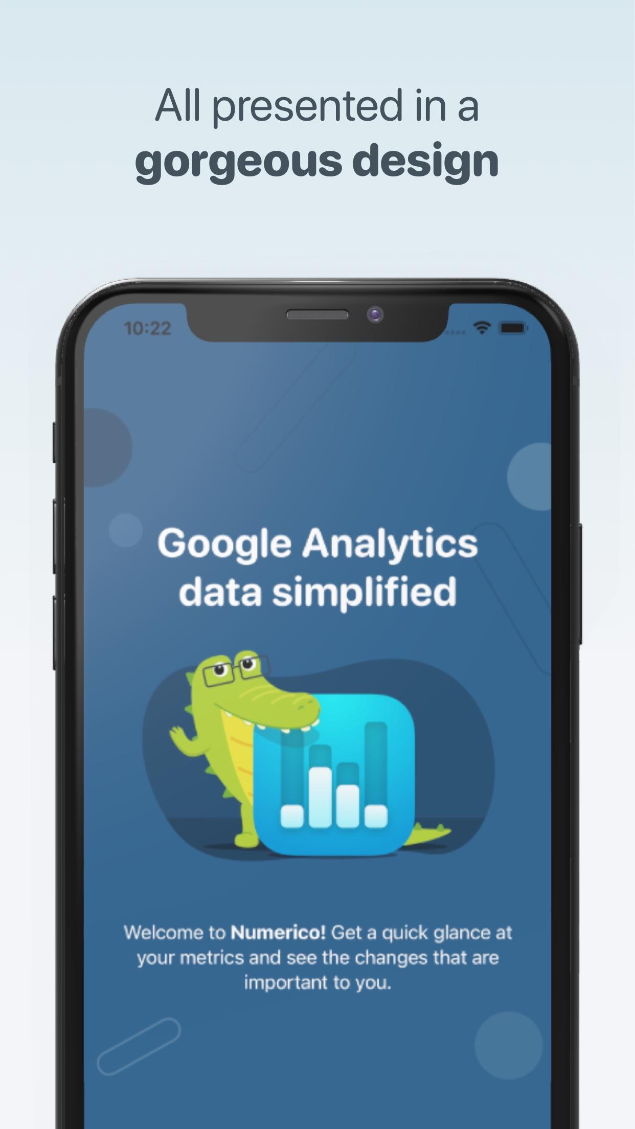 Screenshot do app Numerico - Analytics widget