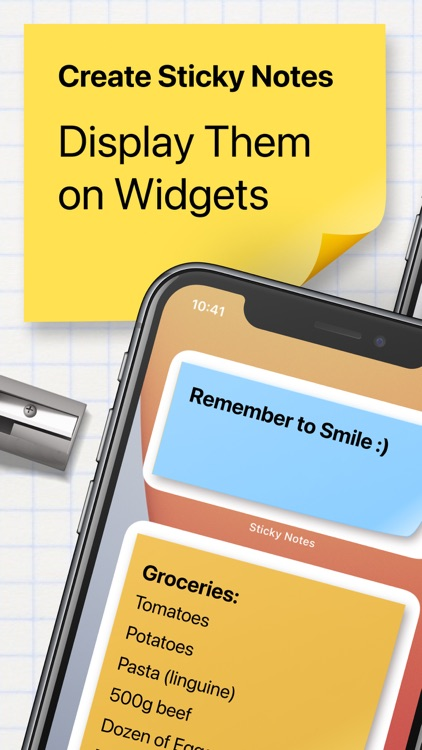 Sticky Notes Widget+