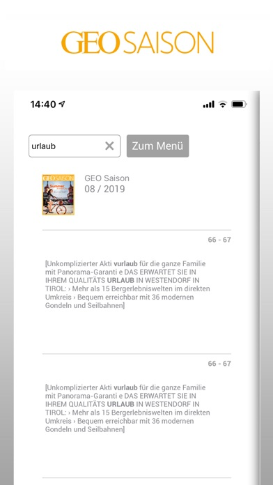 messages.download GEO SAISON-Magazin software