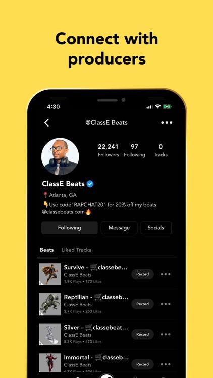 Rapchat: Record Songs, Audio screenshot-7