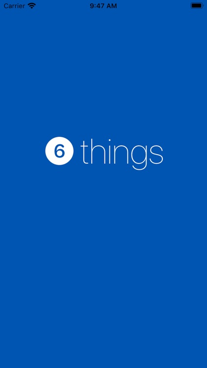 Six Things To Be List screenshot-9