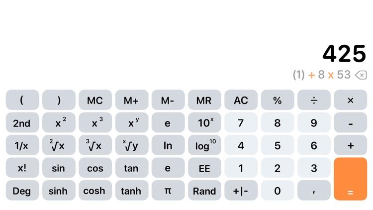 Calculator Air - Math Calc screenshot-4
