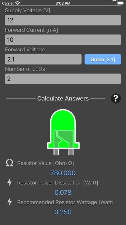 LED Resistor Calculator Plus screenshot-8