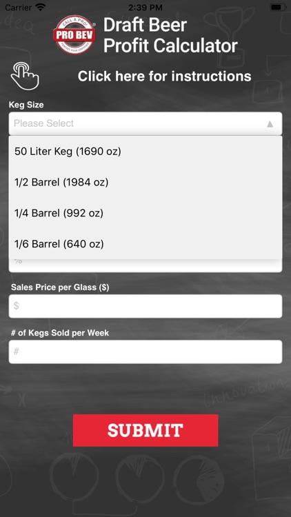 Draft Beer Profit Calculator