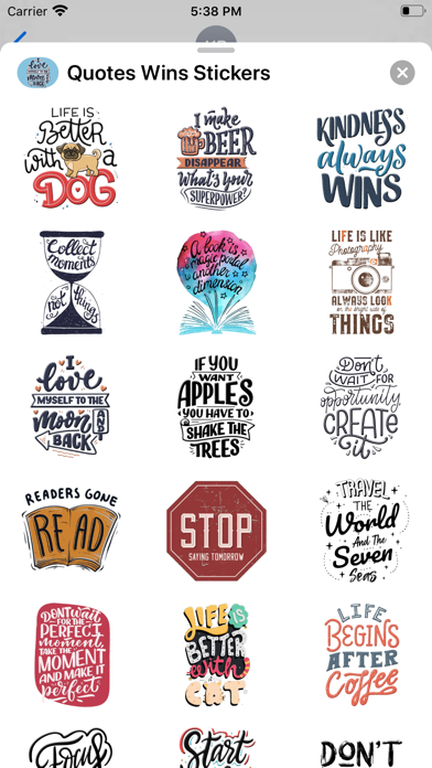 Quotes Wins Stickers Screenshot
