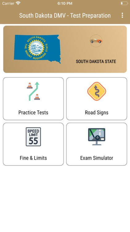South Dakota DMV - Test Prep