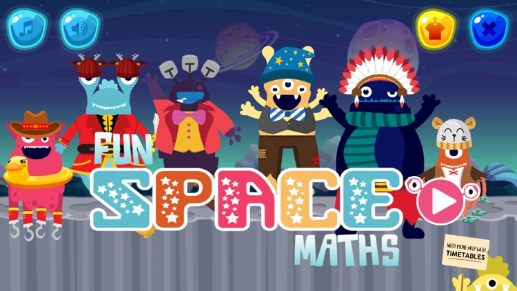 Fun Space Math Multiplication
