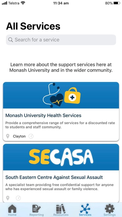 Monash bSafe screenshot 5