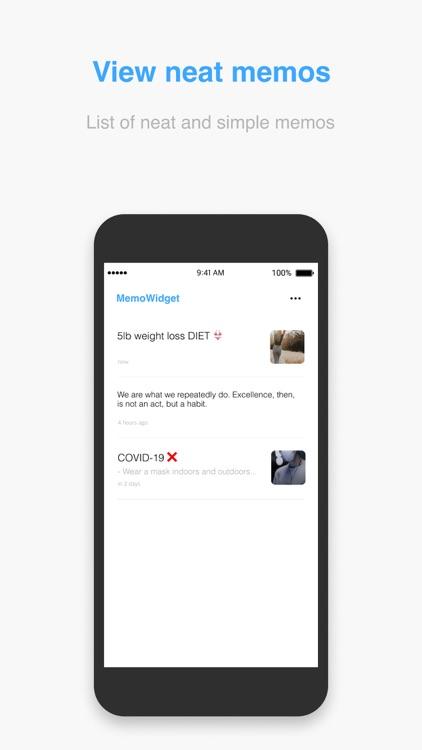 MemoWidget (todo&photo widget) screenshot-3
