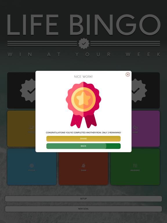 Life Bingo Complete Your Goals