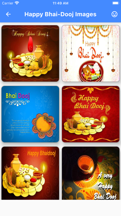 Bhai Dooj Wishes Card Maker Screenshot