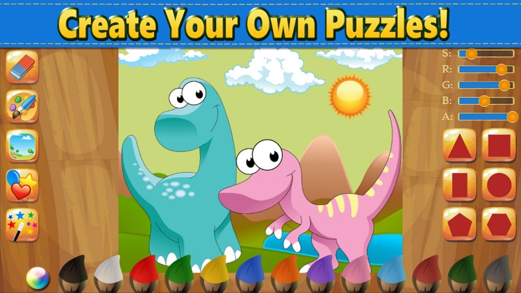 Dino Puzzle Kid Dinosaur Games screenshot-5