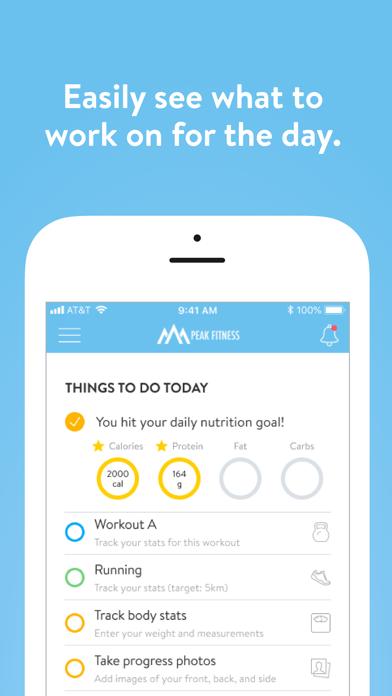 Screen Shot Peak Fitness App 0