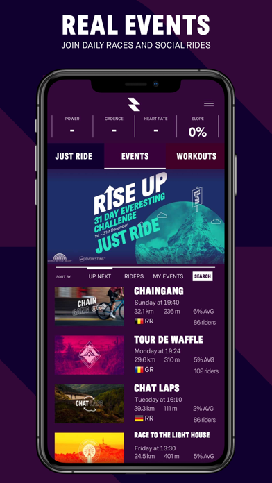 RGT Cycling Mobile App screenshot