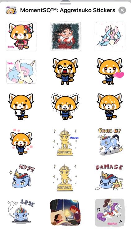 MomentSQ™ Aggretsuko Stickers screenshot-6