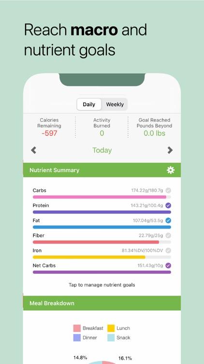 MooveFit Calorie, Keto Counter
