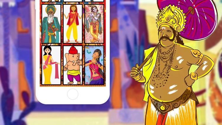 Indian style cartoon