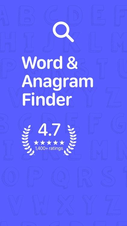 Word & Anagram Finder