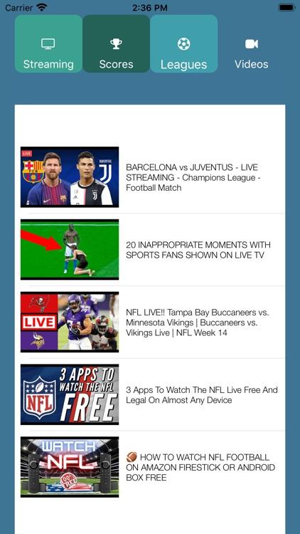 Football TV Live Streaming HD screenshot-3