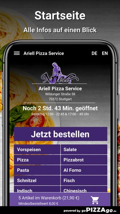 Ariell Pizza Service Stuttgart screenshot 2