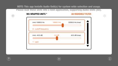 WU: AUHighShelfFilter screenshot 2