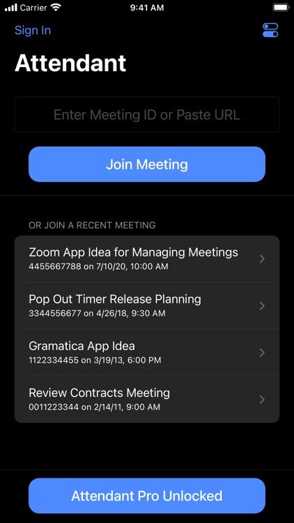 Attendant for Zoom screenshot-7