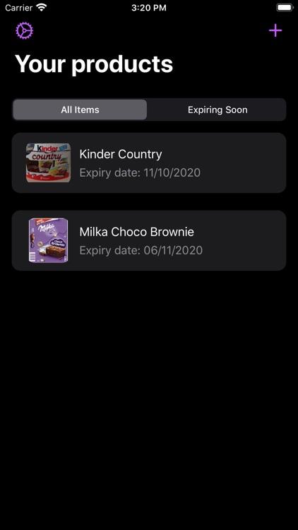 Best Before - Food Tracker