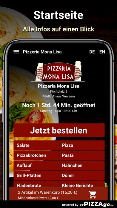 Pizzeria Mona Lisa Wessum screenshot 2