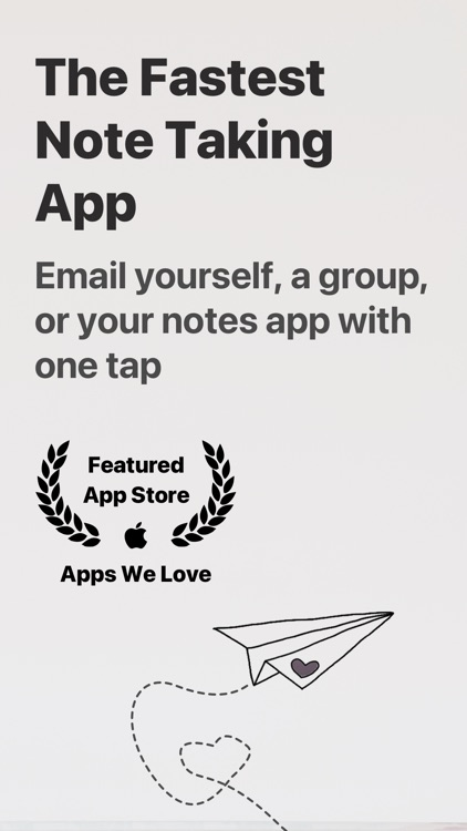 Email Me - Notes in your inbox screenshot-0