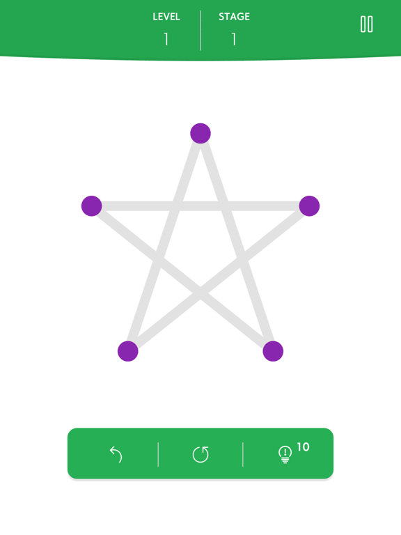 1LINE one-stroke puzzle gameのおすすめ画像1