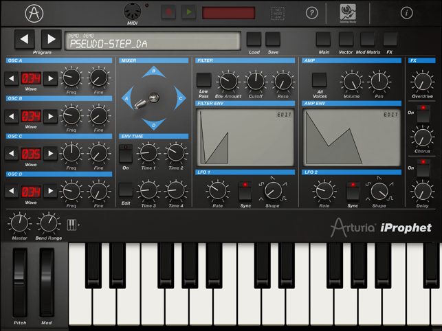 ‎iProphet Synthesizer Screenshot