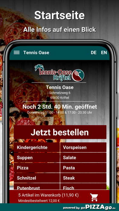 Tennis Oase Kriftel Pizza screenshot 2
