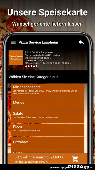 Pizza Service Laupheim screenshot 1