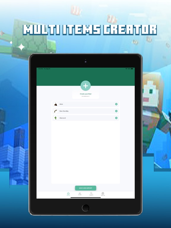 iPad Image of MCPE Mod Maker for Minecraft