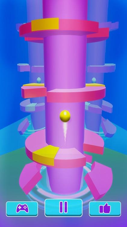 Helix Ball Bounce - Go Up Jump screenshot-5