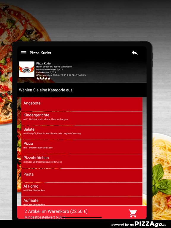 Pizza Kurier Steinhagen Essen screenshot 8
