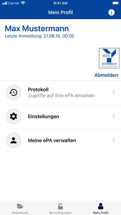 ePA BKK Achenbach BuschhüttenScreenshot von 7