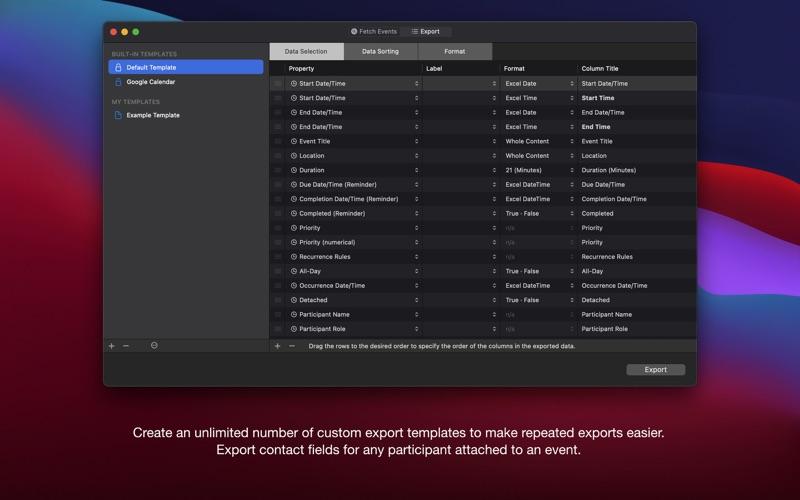 Export Calendars Pro for Mac