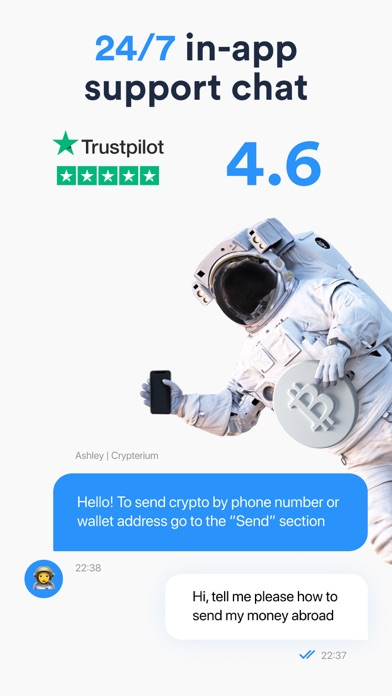 Crypterium | Bitcoin WalletСкриншоты 8