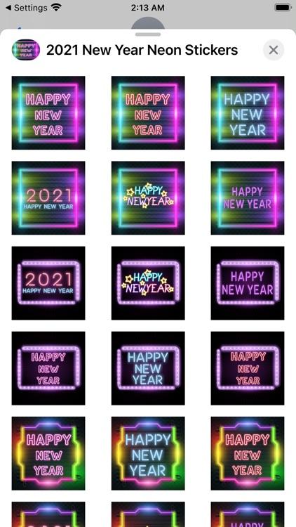 2021 New Year Neon Stickers screenshot-5