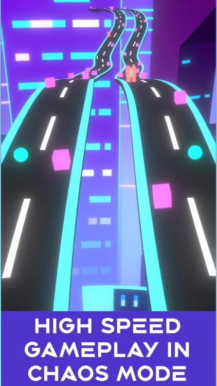 Neon Rush: Color Ball Road Run