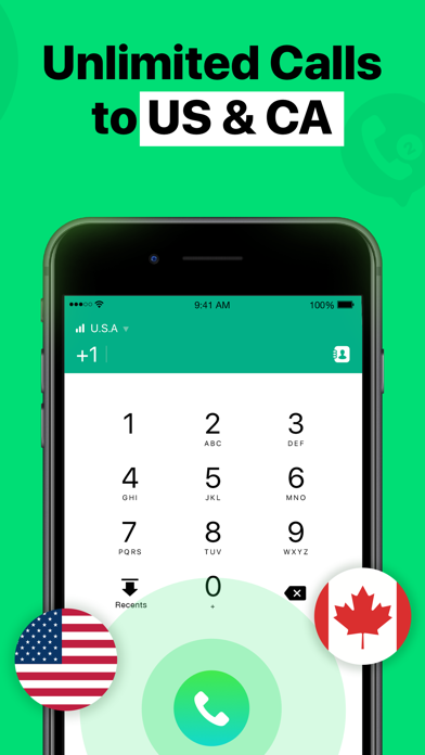2nd Line - Texting Number App Screenshot