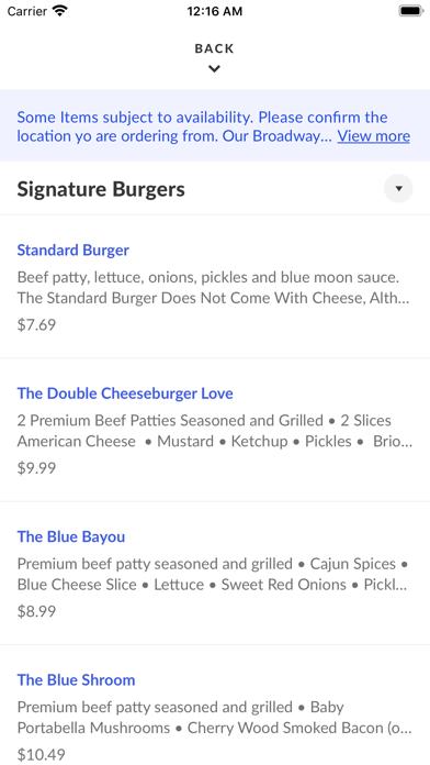 Blue Moon BurgersScreenshot of 3